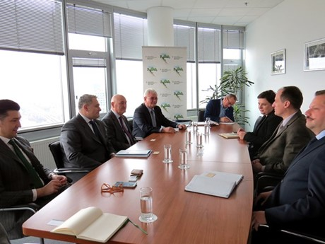 Meeting between the representatives of the Croatian Employers Association and Minister Slaven Dobrović